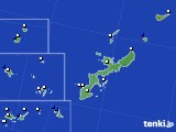 沖縄県のアメダス実況(風向・風速)(2015年11月13日)