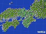 2015年11月14日の近畿地方のアメダス(風向・風速)