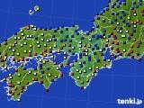 2015年11月15日の近畿地方のアメダス(日照時間)