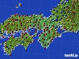2015年11月16日の近畿地方のアメダス(日照時間)