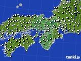 2015年11月16日の近畿地方のアメダス(風向・風速)
