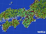2015年11月20日の近畿地方のアメダス(日照時間)