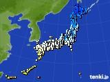 2015年11月25日のアメダス(気温)