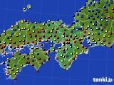 2015年11月27日の近畿地方のアメダス(日照時間)