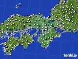 2015年11月27日の近畿地方のアメダス(風向・風速)