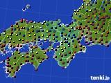 2015年12月01日の近畿地方のアメダス(日照時間)