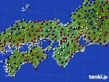 2015年12月05日の近畿地方のアメダス(日照時間)