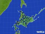 北海道地方のアメダス実況(積雪深)(2015年12月06日)