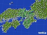 2015年12月08日の近畿地方のアメダス(風向・風速)
