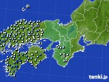 2015年12月10日の近畿地方のアメダス(降水量)
