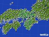 2015年12月10日の近畿地方のアメダス(風向・風速)