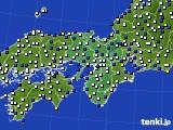 2015年12月11日の近畿地方のアメダス(風向・風速)