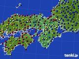 2015年12月14日の近畿地方のアメダス(日照時間)