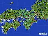 2015年12月17日の近畿地方のアメダス(日照時間)