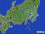 関東・甲信地方のアメダス実況(風向・風速)(2015年12月18日)