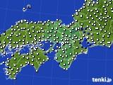 2015年12月18日の近畿地方のアメダス(風向・風速)