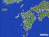 九州地方のアメダス実況(風向・風速)(2015年12月18日)
