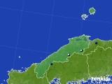 島根県のアメダス実況(積雪深)(2015年12月19日)