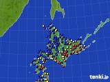 北海道地方のアメダス実況(日照時間)(2015年12月19日)