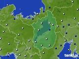 滋賀県のアメダス実況(風向・風速)(2015年12月19日)