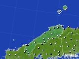 島根県のアメダス実況(風向・風速)(2015年12月19日)