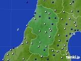 山形県のアメダス実況(風向・風速)(2015年12月19日)