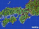 2015年12月20日の近畿地方のアメダス(日照時間)