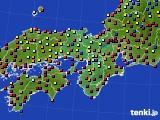2015年12月22日の近畿地方のアメダス(日照時間)