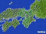 2015年12月23日の近畿地方のアメダス(降水量)