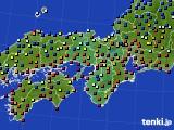 2015年12月24日の近畿地方のアメダス(日照時間)