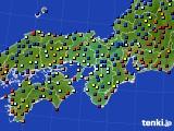 2015年12月25日の近畿地方のアメダス(日照時間)