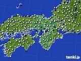 2015年12月26日の近畿地方のアメダス(風向・風速)