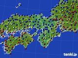 2015年12月27日の近畿地方のアメダス(日照時間)