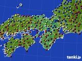 2015年12月28日の近畿地方のアメダス(日照時間)