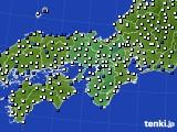 2015年12月28日の近畿地方のアメダス(風向・風速)