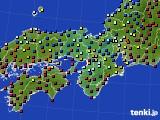 2015年12月29日の近畿地方のアメダス(日照時間)