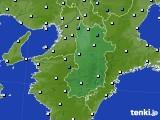 2015年12月29日の奈良県のアメダス(気温)