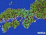 2015年12月30日の近畿地方のアメダス(日照時間)