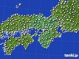 2015年12月30日の近畿地方のアメダス(風向・風速)