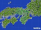 2015年12月31日の近畿地方のアメダス(風向・風速)