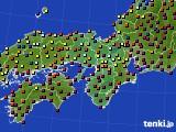 2016年01月01日の近畿地方のアメダス(日照時間)