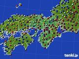 2016年01月02日の近畿地方のアメダス(日照時間)
