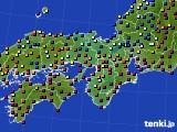 2016年01月04日の近畿地方のアメダス(日照時間)