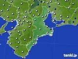 2016年01月05日の三重県のアメダス(風向・風速)