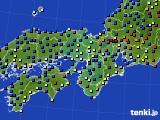 2016年01月08日の近畿地方のアメダス(日照時間)