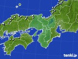 近畿地方のアメダス実況(降水量)(2016年01月13日)