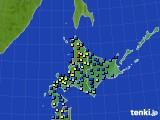 北海道地方のアメダス実況(積雪深)(2016年01月13日)