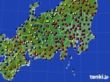 関東・甲信地方のアメダス実況(日照時間)(2016年01月13日)