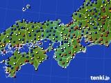 近畿地方のアメダス実況(日照時間)(2016年01月13日)