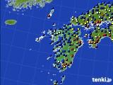 九州地方のアメダス実況(日照時間)(2016年01月13日)